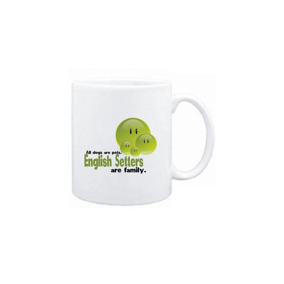 Mug White FAMILY DOG English Setters Dogs