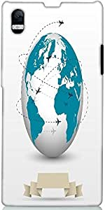 Snoogg Planes Flying Around The Globe Designer Protective Back Case Cover For...