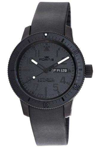 Fortis Men's 647.28.81K B-42 Black Automatic Black Dial Watch