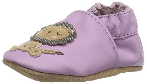 Robeez Girls' Lori the Lion Slip-On, Purple, 12-18 Months M US Infant