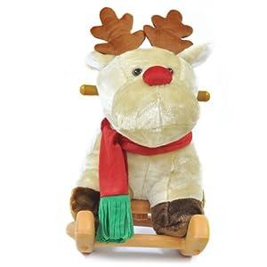 Radio Road Toys Rocking Christmas Deer - Brown