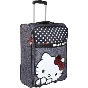 Loungefly Hello Kitty Black & White Rolling Luggage Black/White/Gray
