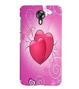 Fuson Love Hearts Back Case Cover for MICROMAX CANVAS XPRESS 2 E313 - D3832