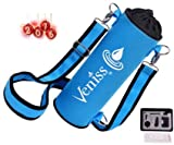 New Versatile Water Bottle Holder takes up to 40 oz flasks 2 release clips 3 positions 50