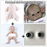 Zero Pam Reborn Baby Doll Kits DIY Doll Making Supplies 22 inch Unpainted Doll Kit Include Head, Limbs, Cloth Body and Eyes (DK1526-22 inch) (Color: DK1526-22 inch)