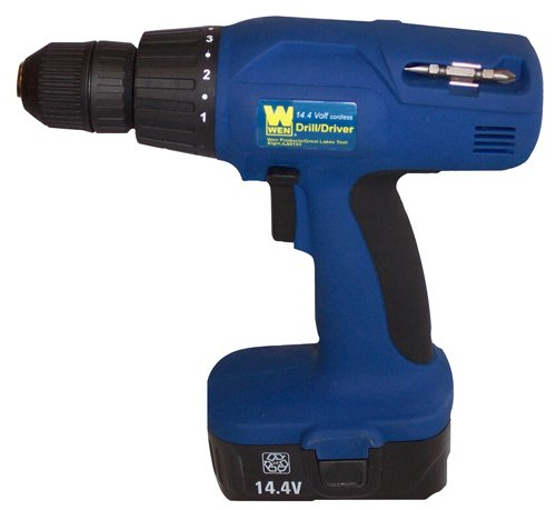 WEN 5142 14.4-Volt Cordless Drill/Driver with 2 Batteries
