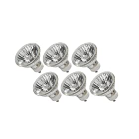  eTopLighting (6) Bulbs, GU10 Halogen Bulb 120V 50W GU10 Halogen Light Bulb, 120 Volt 50 Watt GU10 Halogen Bulb Lamp