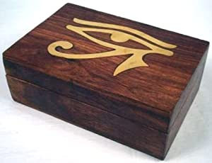 Handcrafted Eye of Horus Hinged Jewelry Box