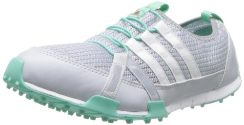 adidas Women's Climacool Ballerina Golf Shoe,White/Mid Grey/Bahia Mint,6.5 M US