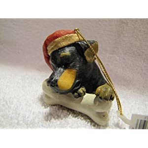 Rottweiler Dog Christmas Ornament