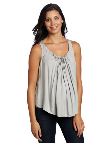 Jules & Jim Women's Maternity  Sleeveless Blouse With Leather Cord
