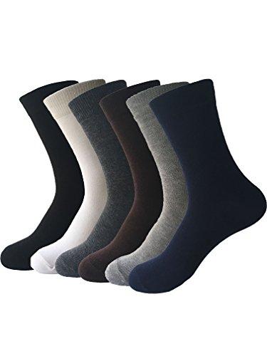 Zando da uomo, in cotone a coste Argyle 1A 6paia di calzini CASUAL Dress 6 Pairs Taglia Unica: 20 cm- 27 cm(Misura scarpa: 40-44)