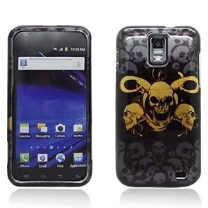 Aimo Wireless SAMSKYRTPCIMT051 Hard Snap-On Image Case for Samsung Galaxy Skyrocket i727 - Retail Packaging - Yellow Skulls