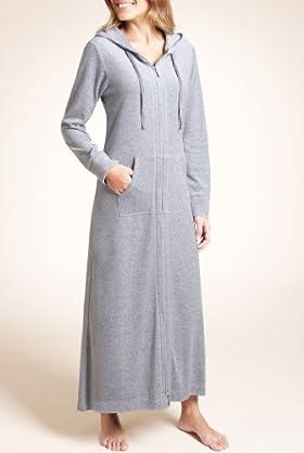 MampS Woman Cotton Rich Velour Zip Dressing Gown T37 2815 S