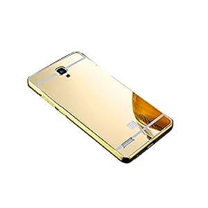 Novo Style Luxury Shiny Bling Glitter Metal Clear Aluminum Frame Cover Ultra Thin Slim Bumper Hard Back Case Cover For Redmi Note 4G - Golden