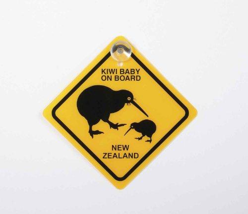 キウィの赤ちゃん乗ってます!標識サインプレート お部屋や車のインテリアに♪ (ニュージーランド限定品)