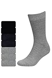 7 Pairs of Freshfeet Cotton Rich Piqu� Socks with Silver Technology [T10-1202S-S]