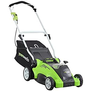 Greenworks 25242 40-Volt 4 Amp-Hour Lithium-Ion 16-Inch Cordless Lawn Mower by Sunrise Global Marketing, LLC