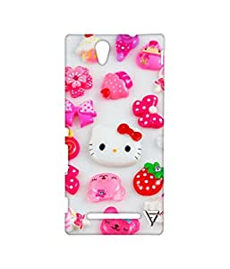 Vogueshell Kitty Pattern Printed Symmetry PRO Series Hard Back Case for Sony Xperia C3