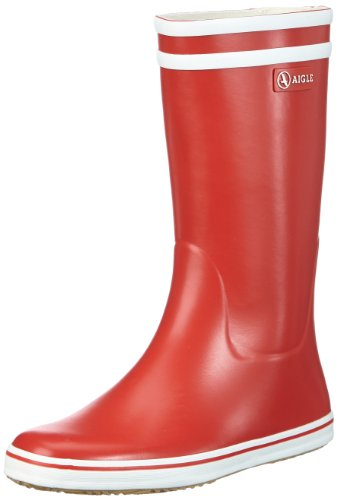 Aigle-Malouine-BT-Damen-Halbschaft-Gummistiefel-Rot-RougeBlanc-39