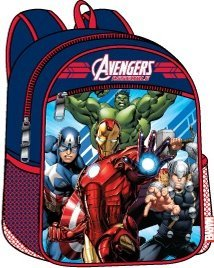 "Marvel Avengers 15"" Backpack - Captain America, Iron Man, Thor, Hulk by Marvel"