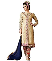 Typify Women's Silk Unstitched Dress Material (TYPIFY261_Multicolor_Free Size)