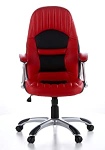 HJH OFFICE Racer 200 OFFICE / Executive Chair Faux Leather red/black