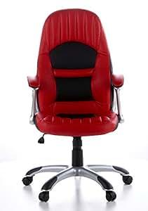hjh OFFICE 621300 Gaming Stuhl / Bürostuhl RACER 200 Kunstleder rot / schwarz