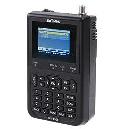 SAT link WS-6906 3.5 inch LCD DVB-S FTA Data Digital Satellite Signal Finder Meter, Supports AV OUT and AV IN function