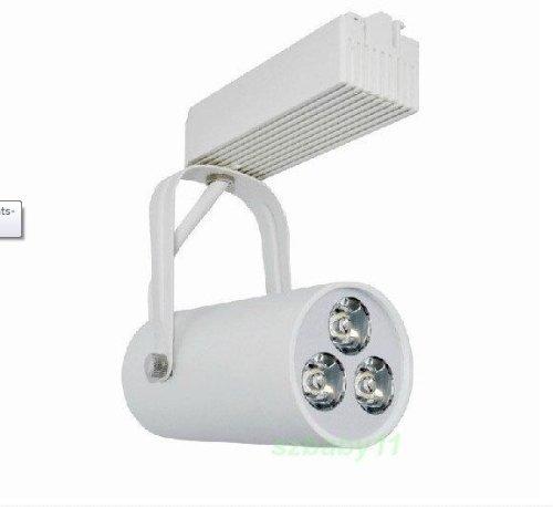 De-Spark Led Track Lighting Kit 3 Bright Led Bulbs 3W 300Lm 110V Rail Ceiling Light Fixture Clothing Spot Light Project Lighting Wall Washer Down Light (White Light White Case)