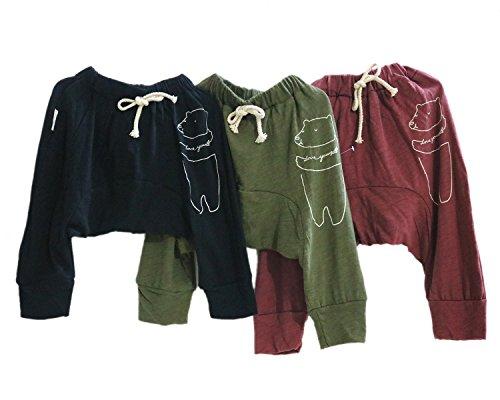 Kubeer Baby Harem Pants Newborn Hiphop Joggers Infant Capri Sport Trousers 1-4T (Boys Capri Pants compare prices)