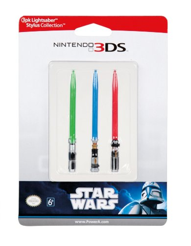 Star Wars Lightsaber Stylus Collection: 3-Pack (Nintendo 3DS/3DS XL/Dsi/DSi XL/DS Lite)