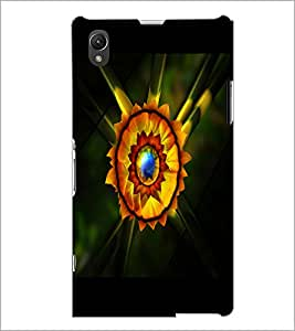 PrintDhaba Flower D-2229 Back Case Cover for SONY XPERIA Z1 (Multi-Coloured)