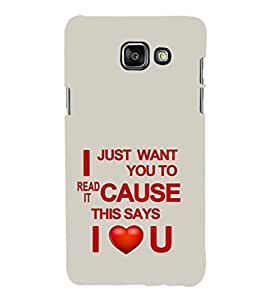 EPICCASE need of love Mobile Back Case Cover For Samsung Galaxy A7 (Designer Case)