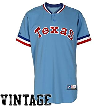 MLB Mens Texas Rangers 1975-1982 Cooperstown Short Sleeve Replica Jersey by Majestic