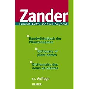 Handwörterbuch der Pflanzennamen. Dictionary of plant names. Dictionnaire des noms de plantes