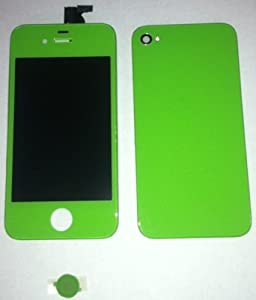Green Full Assembly with Touch Screen Digitzer Display, Front LCD, Back housing, Home Button and Installation Tools for Apple iPhone 4 (AT&T)