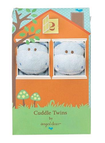 Angel Dear Cuddle Twin Set, Blue Hippo