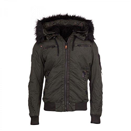 Khujo giacca da uomo Serge 2074jk163 verde scuro L