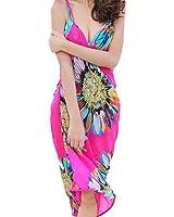 eKingstore Chiffon Sexy Wrap Dress Sarong Beach Scarf Shawl Dress up Wrap (Hot pink)