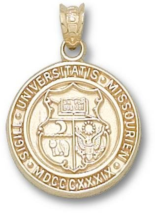Missouri Tigers Seal Pendant - 14KT Gold Jewelry by Logo Art