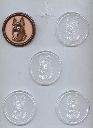 CK Products German Shepherd Head on 2-1/2-Inch Round Chocolate Mold (German Baking Products compare prices)