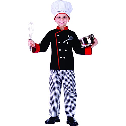 [Executive Boy Chef Costume - Size Large 12-14] (Chef Costumes For Kids)