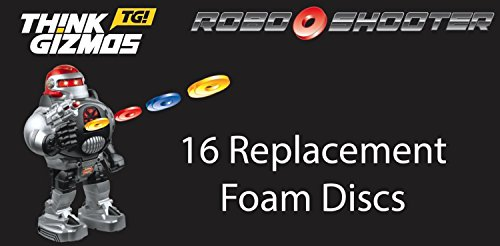 RoboShooter-von-ThinkGizmos-Ferngesteuerter-Roboter-Ersatzschaumstoffscheiben-Nur-Packung-mit-16