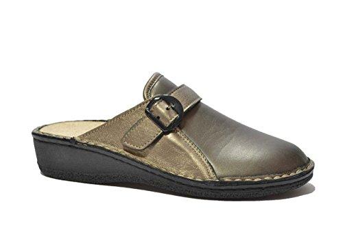Cinzia Soft Ciabatte piombo PLANTARE ESTRAIBILE scarpe donna T2622BMV 36