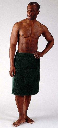 Bathrobes Online -Men's %100 Turkish Terry Cotton Shower Bath Body Spa Wrap Towel with adjustable velcro on waist - Made in Turkey