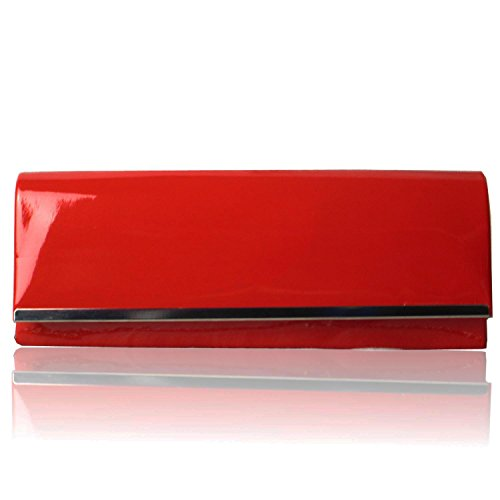 Zarla New Designer Patent Women Ladies Clutch Bag Evening Party Prom UK