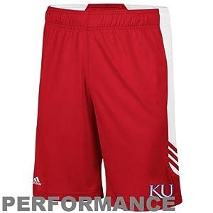 Buy Kansas Jayhawks Red adidas Performance Training Shorts by adidas
