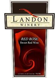 NV Landon Winery Red Rose Sweet Red Wine, Texas 750 mL