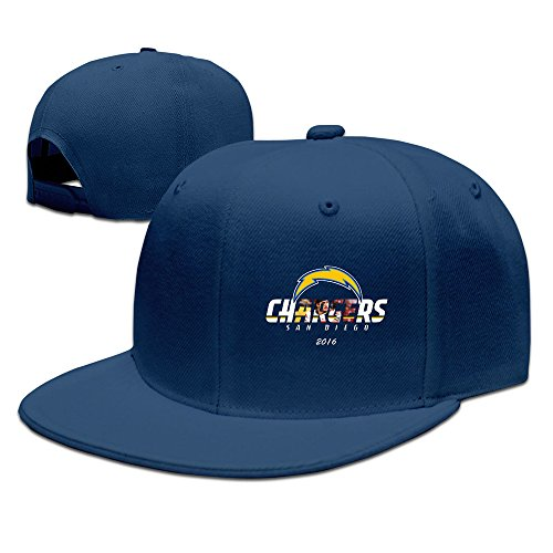 [Custom Unisex-Adult San Diego Joey Bosa Chargers Flat Brim Baseball Headwear Navy] (Cow Head Hat Adult)